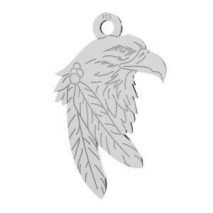 Aigle pendentif, argent 925, LKM-2209 - 0,50 13,1x21,9 mm