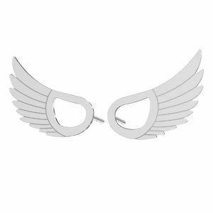 Ailes boucles d'oreilles, argent 925*KLS LKM-2961 - 0,50 8,8x15 mm