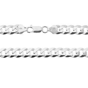 Bracelet a maille plate*argent 925*PD 180 6L 19 cm