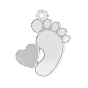 Pieds de bébé pendentif*argent 925*LKM-2644 - 0,50 13x14,7 mm (2808 mm 6)
