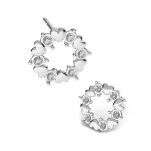 Feuilles des boucles d'oreilles Swarovski crystals, KLS ODL-00811 ver.2 10,8x10,8 mm
