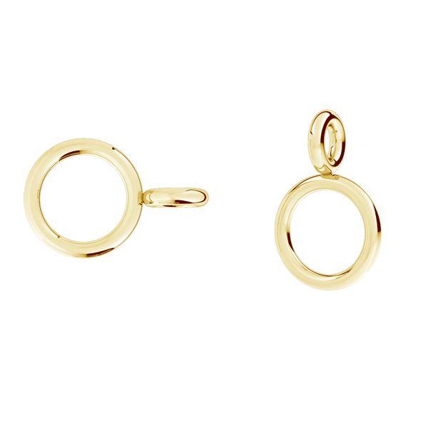 Double anneau de saut argent 925, EL 25 0,8x2x8,3 mm