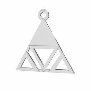 Triangle pendentif argent, LKM-2222 - 0,50 18,6x18,7 mm