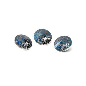 Tour cristal 8mm, RIVOLI 8 MM GAVBARI METALIC BLUE PATINA