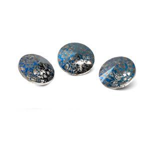 Tour cristal 10mm, RIVOLI 10 MM GAVBARI METALIC BLUE PATINA