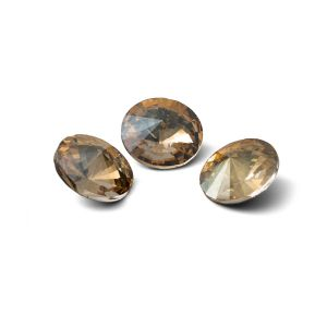 Tour cristal 10mm, RIVOLI 10 MM GAVBARI IRIDESCENT GOLD