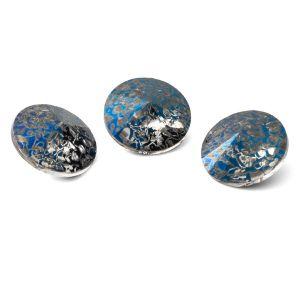 Tour cristal 12mm, RIVOLI 12 MM GAVBARI METALIC BLUE PATINA