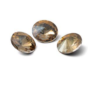 Tour cristal 12mm, RIVOLI 12 MM GAVBARI IRIDESCENT GOLD