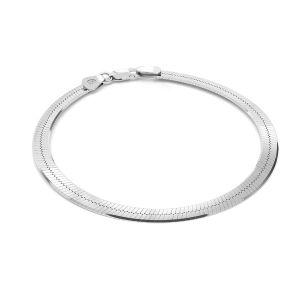 Bracelet chaine maille serpent*argent 925*MAG 050 19 cm