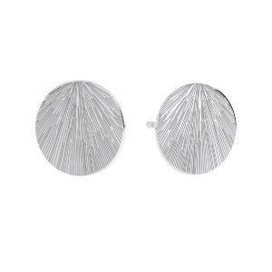 Rond boucles d'oreilles, argent 925, KLS LKM-3009 - 0,50 10x10 mm