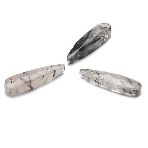 La Flèche Quartz rutile noir 30 mm, pierre semi-précieuse
