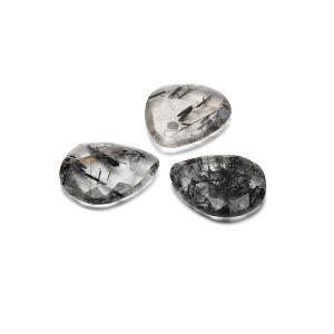 Larme pendentif, Quartz rutile noir 16 mm, pierre semi-précieuse
