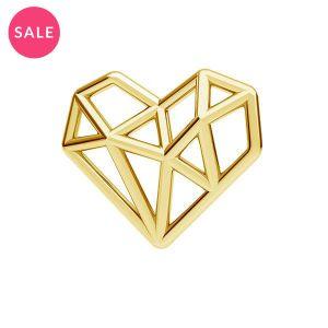 Origami cœur pendentif argent, ODL-00299
